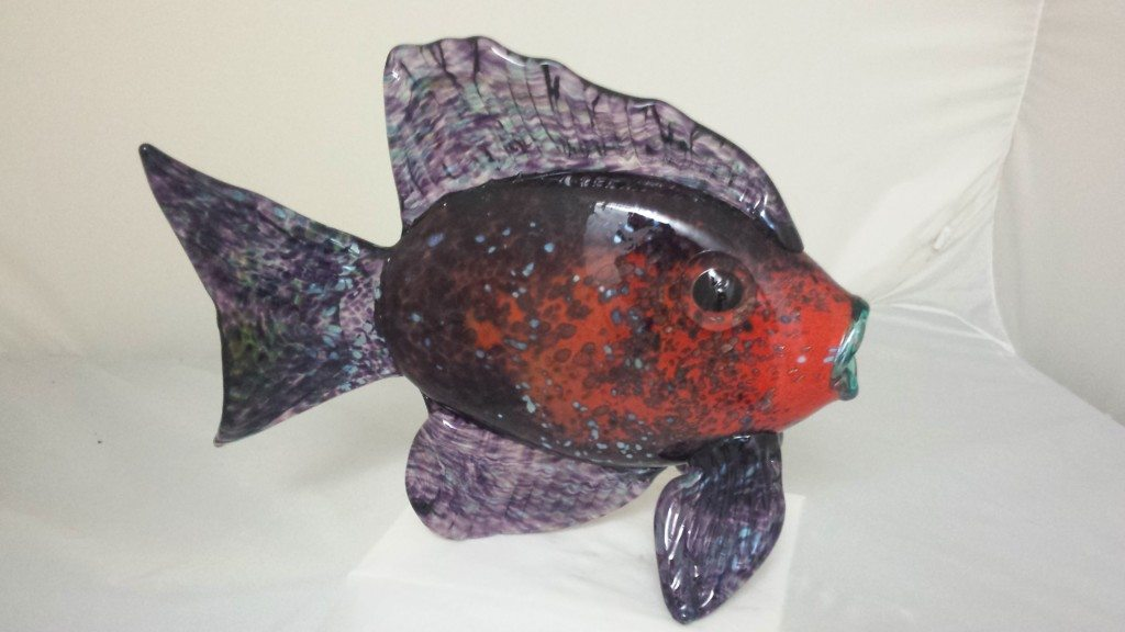 Large Blown Glass Fish