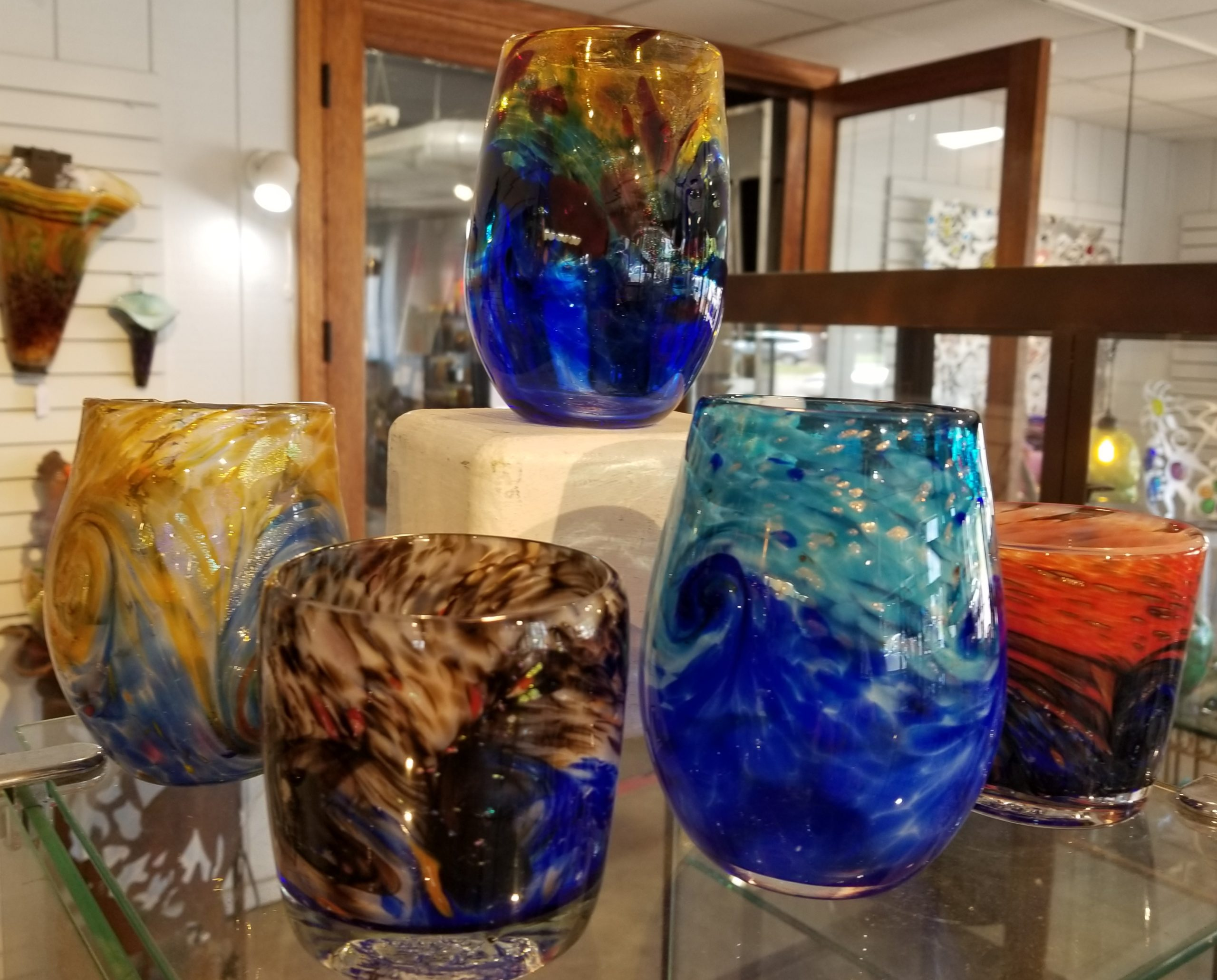 hand blown glass samples